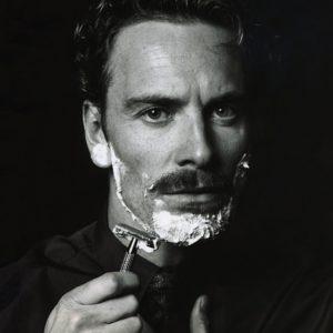 Michael-Fassbender-Shaving